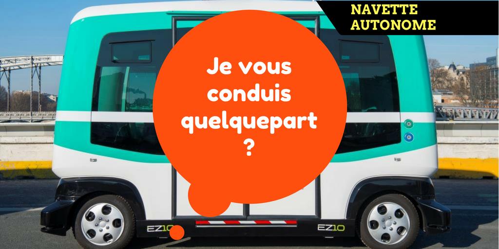 Paris : Embarquez dans la navette sans chauffeur !