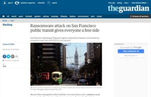 SF ransomware attack donnee