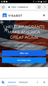 screen US visa chatbot