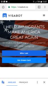 screen US visa chatbot
